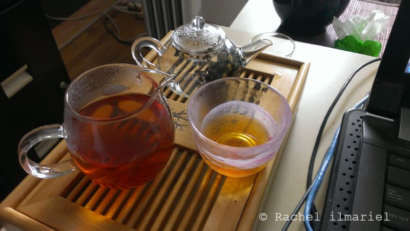 dégutation d'un thé